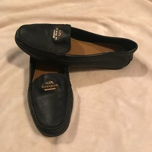 Coach black slip on loafers. Size 6 1/2.
